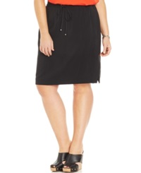 Jones New York Signature Plus Size Drawstring Skirt Black