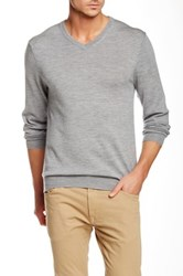 Bonobos Yorkshire Wool V Neck Sweater Gray