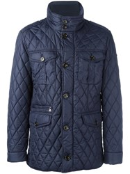 Hackett Quilted Jacket Blue