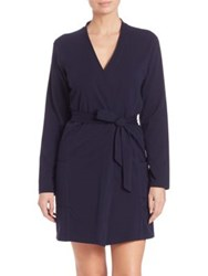 Naked Essential Cotton Wrap Robe Blue
