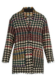 Isabel Marant Diana Hound's Tooth Wool Blend Tweed Coat Multi