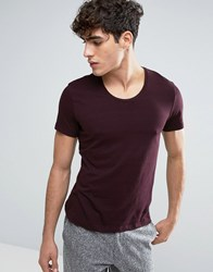Casual Friday T Shirt In Nep Burgundy Red
