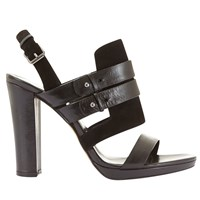 Mint Velvet Olivia Block Heeled Sandals Black
