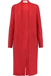 Amanda Wakeley The Apache Wool Blend Coat Red