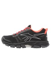 Reebok Ridgerider Trail Trail Running Shoes Black Gravel Neon Cherry Shark Steel