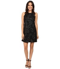 Jessica Simpson Floral Sequin Dress Black Women's Dress