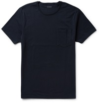 Club Monaco Williams Cotton Jersey T Shirt Blue