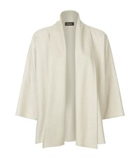 Eskandar Cashmere Shawl Collar Jacket Female Cream