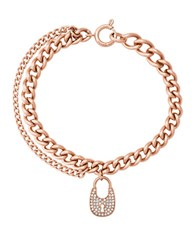 Michael Kors Curb Chain Link Bracelet Rose Gold