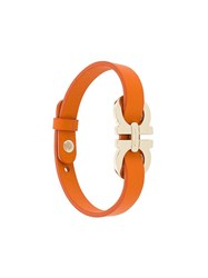 Salvatore Ferragamo Double Gancini Wrap Bracelet Yellow Orange