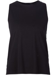 The Row Twisted Racer Back Tank Top Black