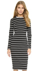 Bec And Bridge Striped Dress Black