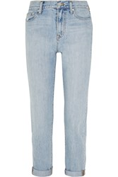 Madewell Perfect Summer Distressed Boyfriend Jeans Light Denim
