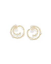 Ippolita 18K Glamazon Stardust Open Hoop Earrings With Diamonds