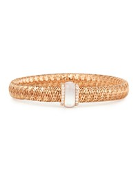 Primavera 18K Rose Gold Mother Of Pearl And Diamond Station Bracelet Robert Coin