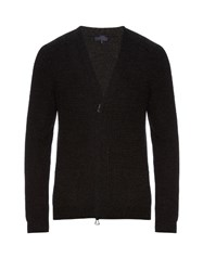 Lanvin Zip Fastening Wool Cardigan Grey