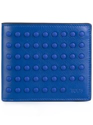 Tod's Studded Wallet Blue
