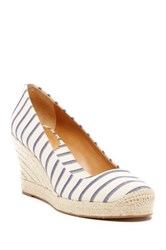 J.Crew Striped Seville Wedge Orange
