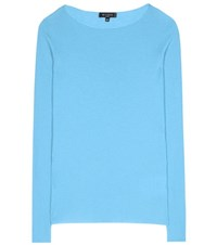 Etro Ribbed Cashmere Sweater Blue