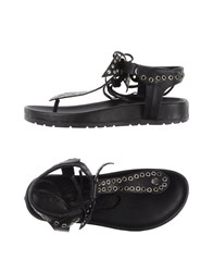 Inuovo Footwear Thong Sandals Women Black