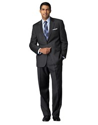 Lauren Ralph Lauren Classic Fit Pinstriped Wool Suit Charcoal Grey