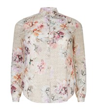 Basler Classic Floral Print Shirt Female Pink