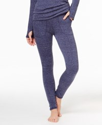 Cuddl Duds Comfortwear Pocket Leggings Navy Neps Heather