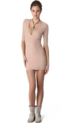 Nightcap Clothing Deep Victorian Lace Dress Nude