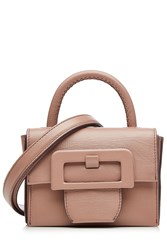 Maison Martin Margiela Maison Margiela Leather Petite Satchel With Oversized Buckle Rose