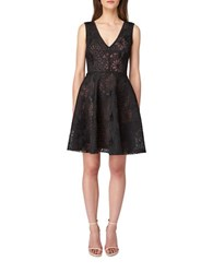 Erin Fetherston Buckingham Fit And Flare Dress Black