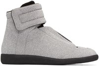 Maison Martin Margiela Silver Glitter Future High Top Sneakers