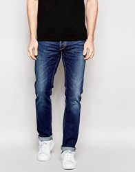 Antony Morato Mid Wash Jeans In Slim Stretch Fit Blue