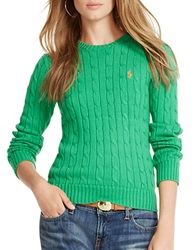 Polo Ralph Lauren Cotton Crewneck Sweater Green
