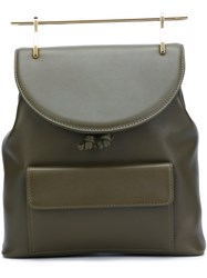 M2malletier Leather Backpack Green