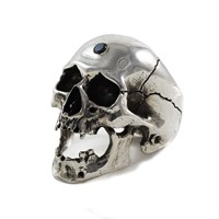 Freddie Grove Black Diamond Screaming Skull Silver