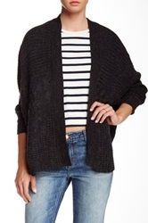 Dex Cable Knit Cardigan Sweater Gray