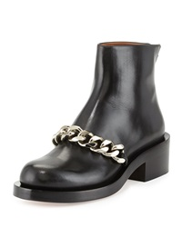 Leather Chain Strap Ankle Boot Black Givenchy