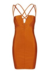 Rare Strappy Cut Out Mini Dress By Rust
