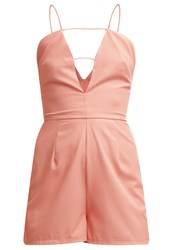 Missguided Jumpsuit Peach Apricot