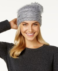 Betsey Johnson Fuzzy Wuzzy Knit Beanie Grey