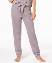 Hue Quilted Knit Pajama Pants Silver