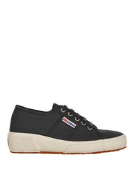 Superga Canvas Wedge Sneakers Black
