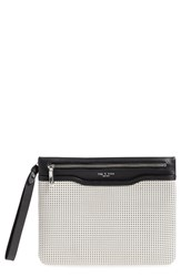 Rag And Bone Rag And Bone Perforated Leather Clutch