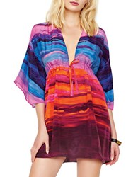 Gottex Stripe Printed Coverup Multi