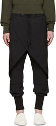 D.Gnak By Kang.D Black Embroidered Lounge Pants