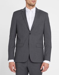 Calvin Klein Grey Wool Slim Fit Jacket