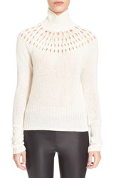 Tamara Mellon Wool And Cashmere Turtleneck Sweater Cream