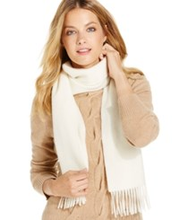 Charter Club Solid Woven Cashmere Muffler Only At Macy's Ivory