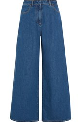 Keji Split High Rise Wide Leg Jeans Mid Denim