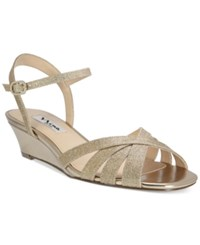 Nina Filia Wedge Evening Sandals Women's Shoes